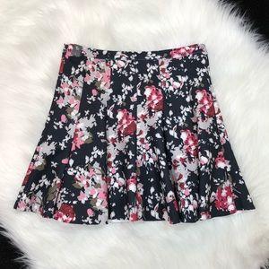 Abercrombie Scuba Skater Skirt Size L NWT Floral